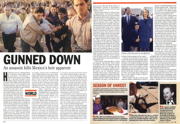 Article Preview: GUNNED DOWN, April 1994 | Maclean's