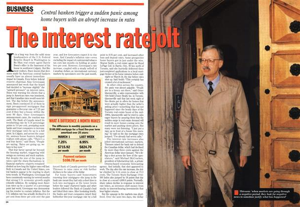 Article Preview: The interest rate jolt, April 1994 | Maclean's