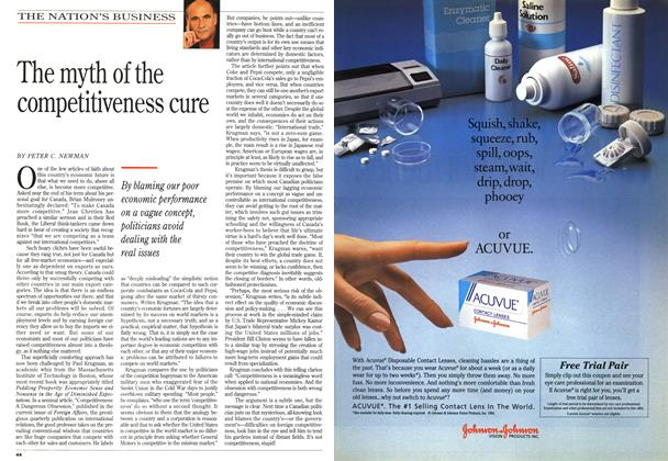 Article Preview: The myth of the competitiveness cure, April 1994 | Maclean's