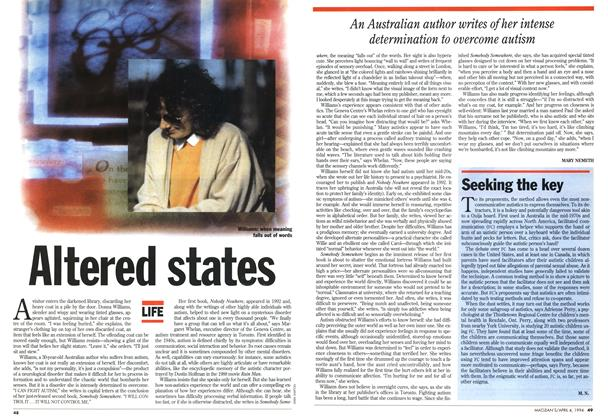 Article Preview: Altered states, April 1994 | Maclean's