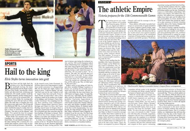 Article Preview: The athletic Empire, April 1994 | Maclean's