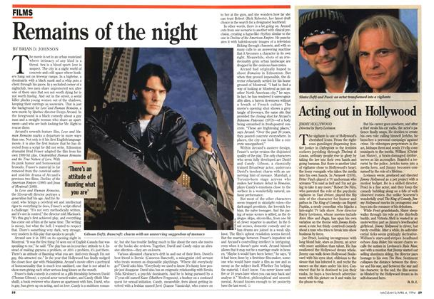 Article Preview: Acting out in Hollywood, April 1994 | Maclean's