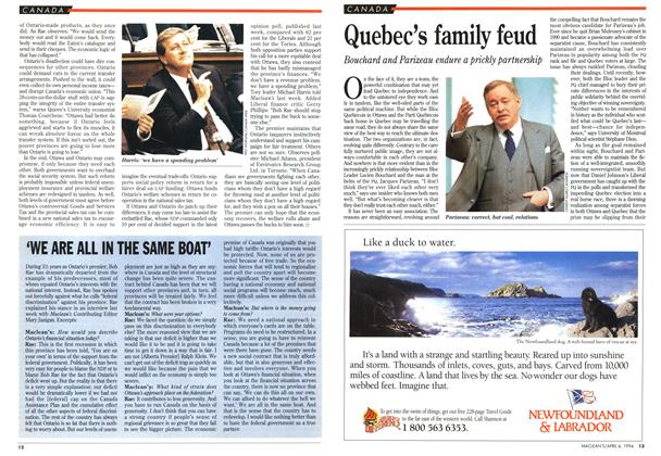 Article Preview: Quebec's family feud, April 1994 | Maclean's