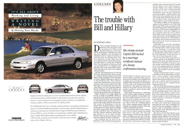 Article Preview: The trouble with Bill and Hillary, April 1994 | Maclean's