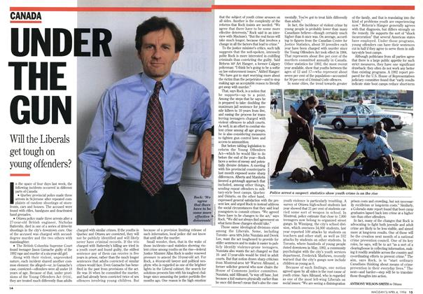 Article Preview: UNDER THE GUN, April 1994 | Maclean's