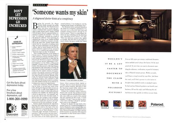 Article Preview: 'Someone wants my skin', April 1994 | Maclean's
