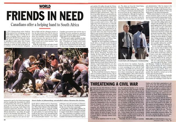 Article Preview: FRIENDS IN NEED, April 1994 | Maclean's