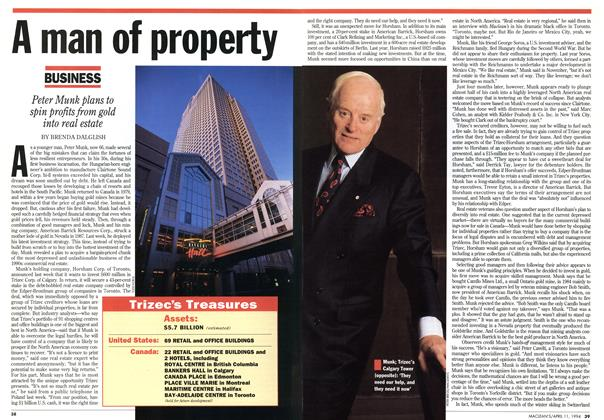 Article Preview: A man of property, April 1994 | Maclean's