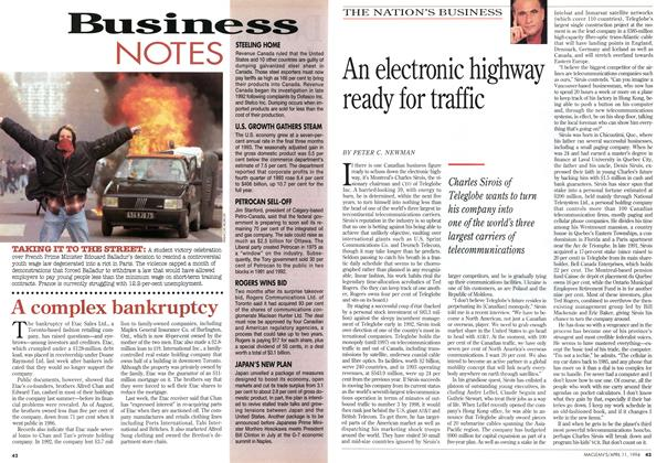 Article Preview: An electronic highway ready for traffic, April 1994 | Maclean's