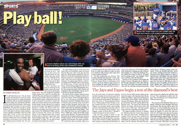 Article Preview: Play ball!, April 1994 | Maclean's