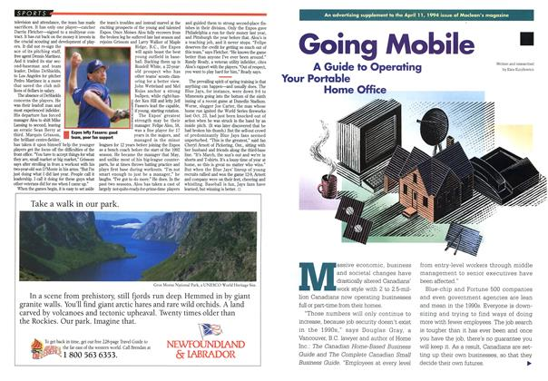 Article Preview: Going Mobile, April 1994 | Maclean's