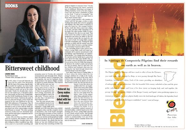 Article Preview: Bittersweet childhood, April 1994   Maclean's