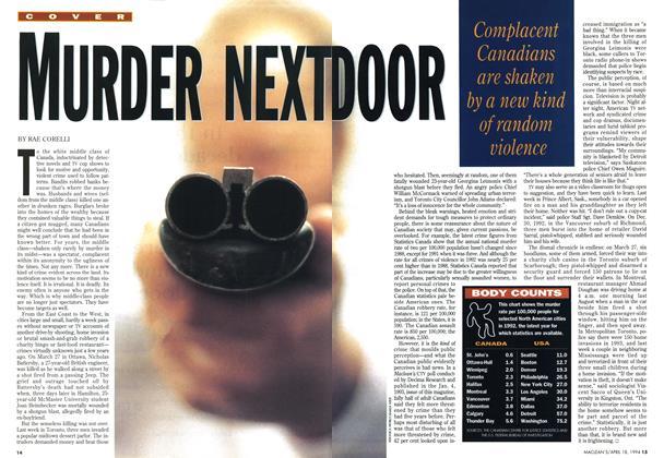 Article Preview: MURDER NEXT DOOR, April 1994 | Maclean's
