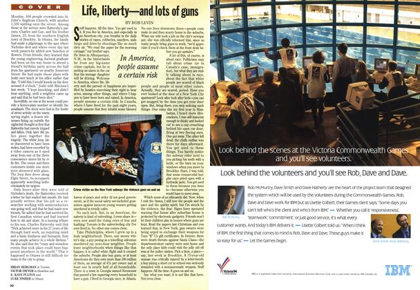 Article Preview: Life, liberty—and lots of guns, April 1994 | Maclean's
