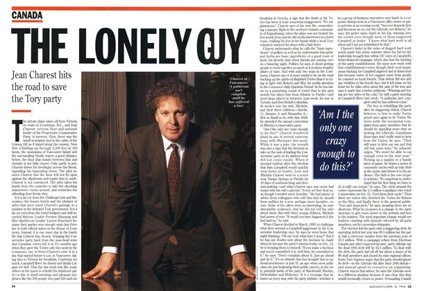 Article Preview: THE LONELY GUY, April 1994 | Maclean's