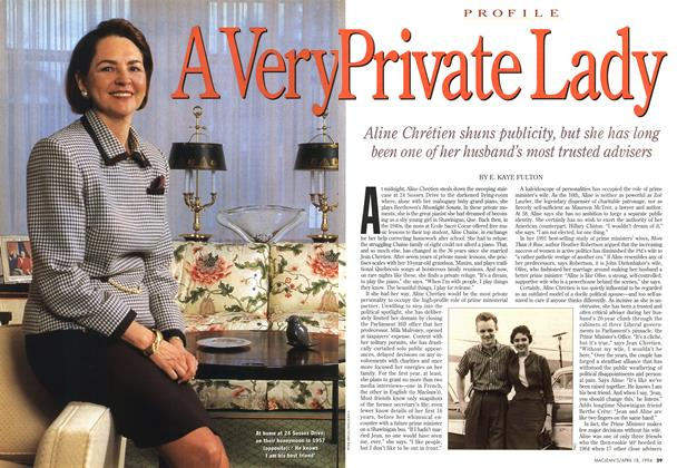 Article Preview: A Very Private Lady, April 1994 | Maclean's