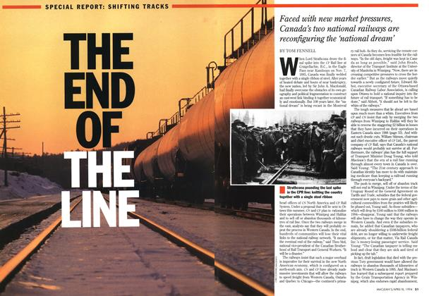 Article Preview: The End of the Line, April 1994 | Maclean's
