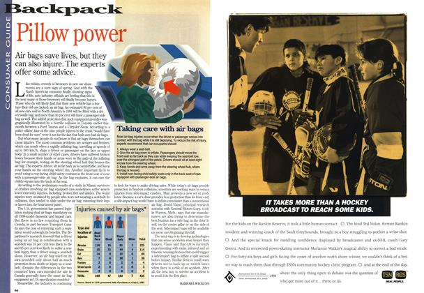 Article Preview: Pillow power, April 1994 | Maclean's