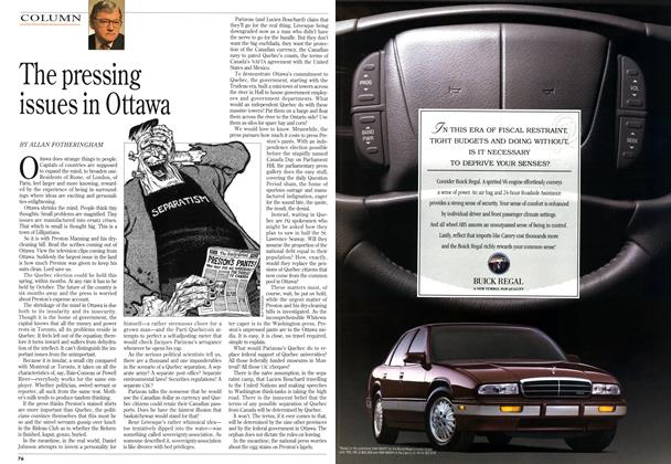 Article Preview: The pressing issues in Ottawa, April 1994 | Maclean's