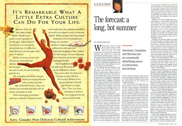 Article Preview: The forecast: a long, hot summer, April 1994 | Maclean's
