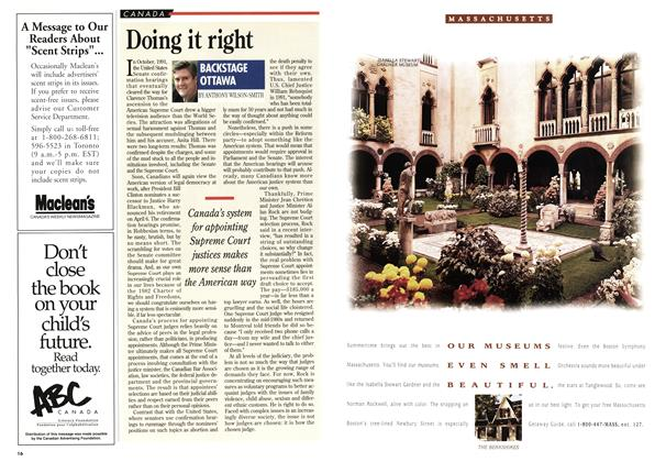 Article Preview: Doing it right, April 1994 | Maclean's