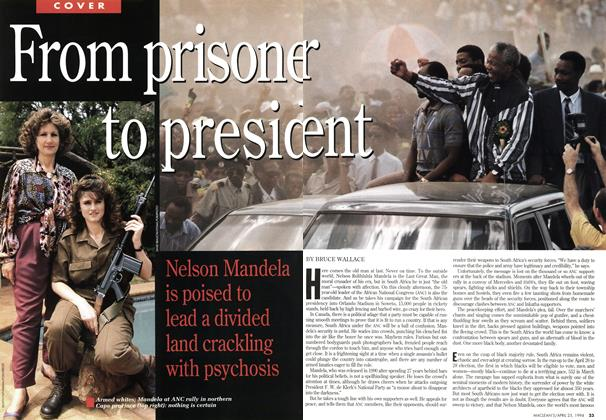 Article Preview: From prisoner to president, April 1994 | Maclean's