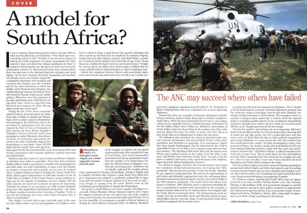 Article Preview: A model for South Africa?, April 1994 | Maclean's