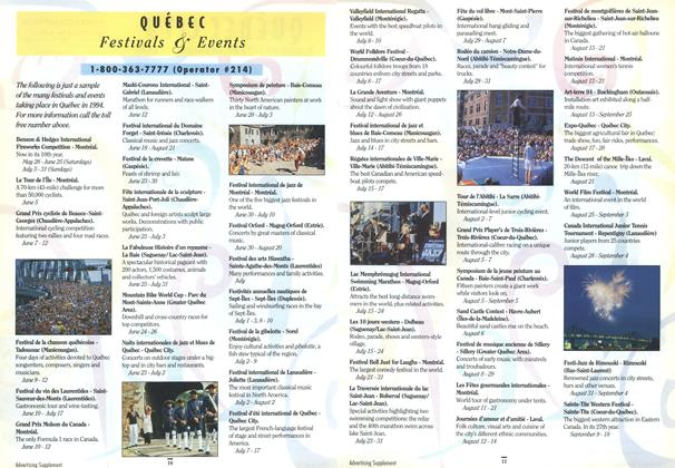 Article Preview: QUEBEC Festivals & Events, April 1994 | Maclean's