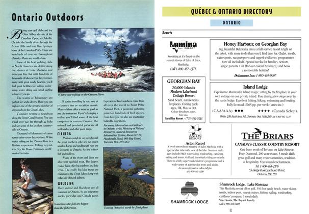 Article Preview: QUEBEC & ONTARIO DIRECTORY, April 1994 | Maclean's
