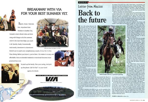 Article Preview: Back to the future, April 1994 | Maclean's