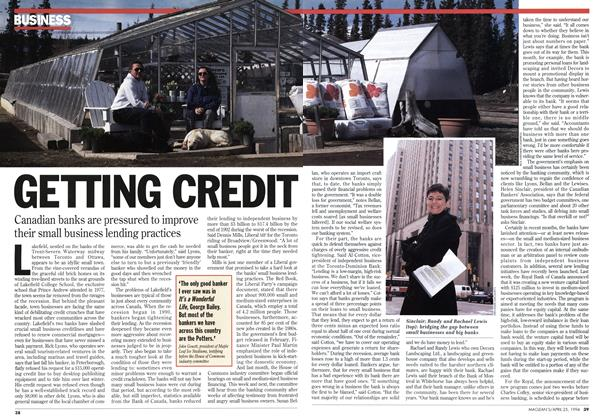 Article Preview: GETTING CREDIT, April 1994 | Maclean's