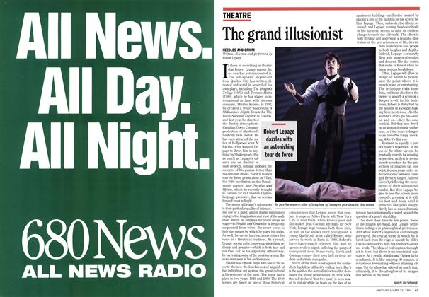 Article Preview: The grand illusionist, April 1994 | Maclean's