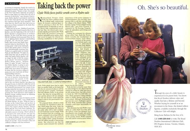 Article Preview: Taking back the power, May 1994 | Maclean's