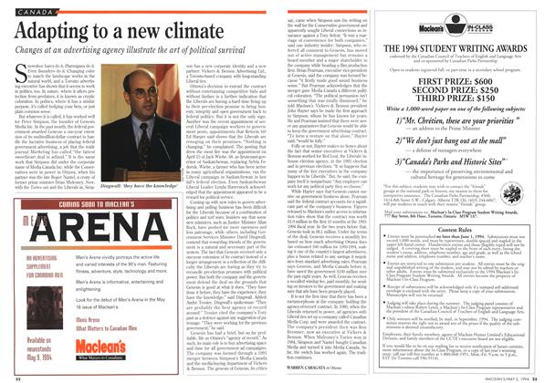 Article Preview: Adapting to a new climate, May 1994 | Maclean's