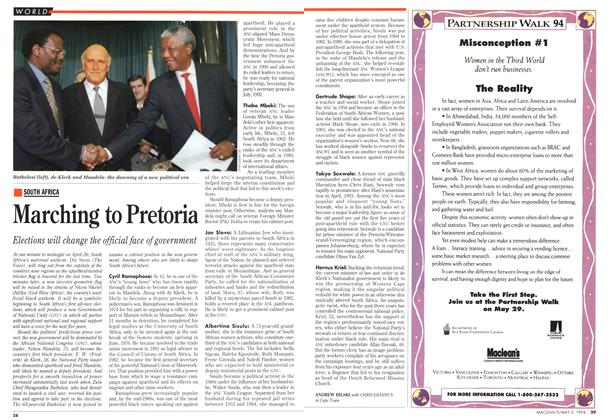 Article Preview: Marching to Pretoria, May 1994 | Maclean's