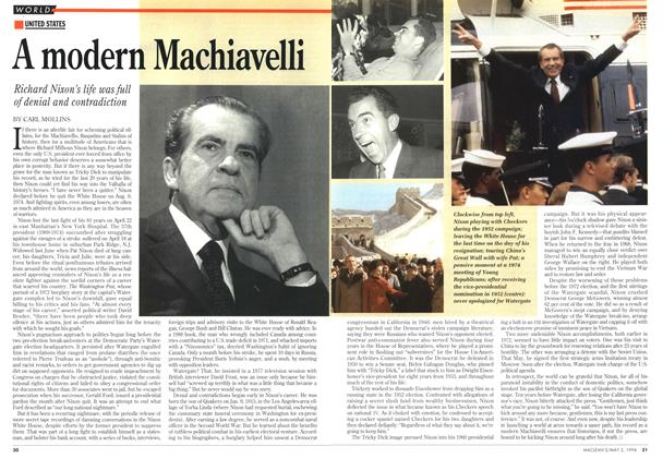 Article Preview: A modern Machiavelli, May 1994 | Maclean's