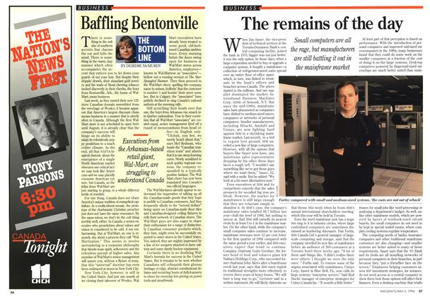 Article Preview: The remains of the day, May 1994 | Maclean's