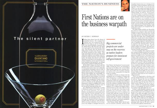 Article Preview: First Nations are on the business warpath, May 1994 | Maclean's