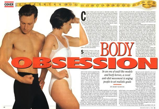 Article Preview: BODY OBSESSION, May 1994 | Maclean's