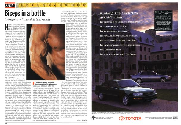 Article Preview: Biceps in a bottle, May 1994 | Maclean's