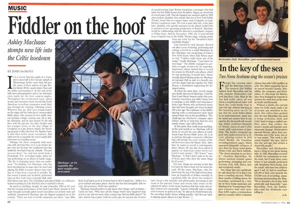 Article Preview: Fiddler on the hoof, May 1994 | Maclean's