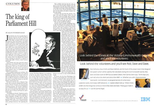 Article Preview: The king of Parliament Hill, May 1994 | Maclean's