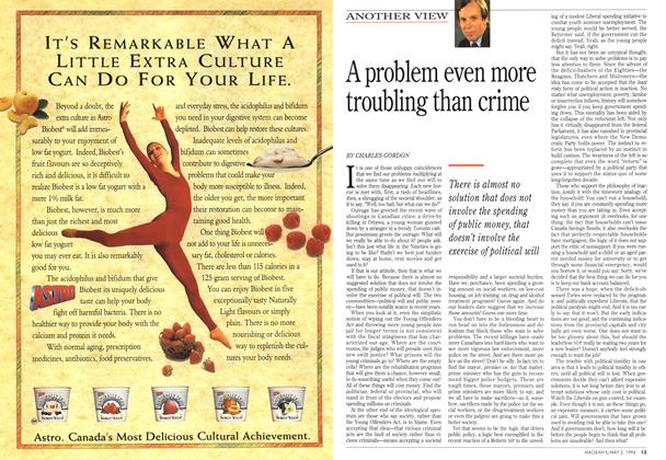 Article Preview: A problem even more troubling than crime, May 1994 | Maclean's