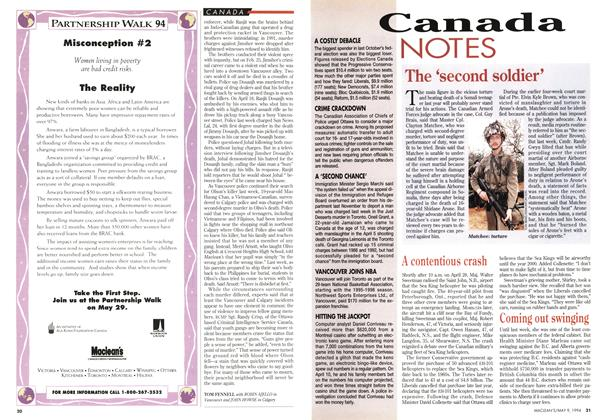 Article Preview: Canada NOTES, May 1994 | Maclean's