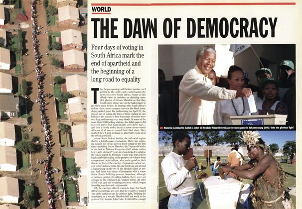 Article Preview: THE DAWN OF DEMOCRACY, May 1994 | Maclean's