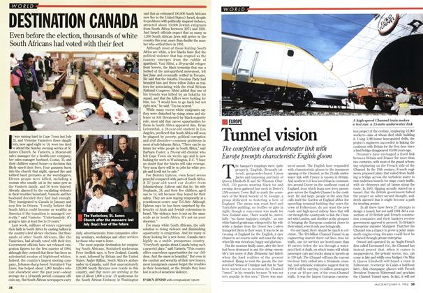 Article Preview: Tunnel vision, May 1994 | Maclean's