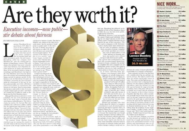 Article Preview: Are they worth it?, May 1994 | Maclean's