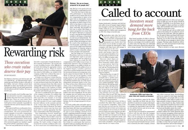 Article Preview: Called to account, May 1994 | Maclean's