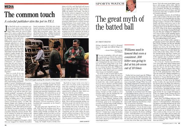 Article Preview: The great myth of the batted ball, May 1994 | Maclean's