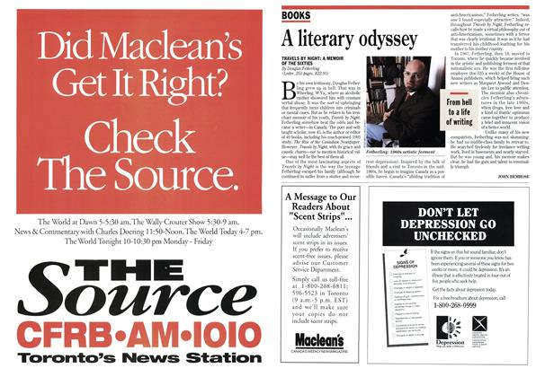 Article Preview: A literary odyssey, May 1994 | Maclean's